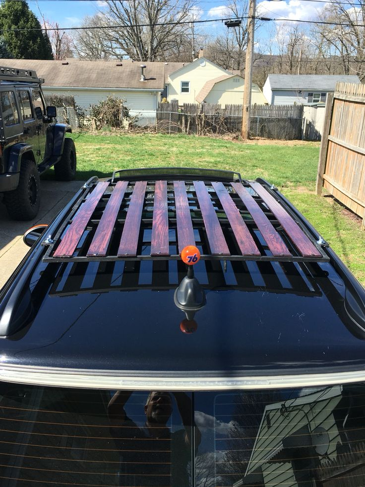 This Is My Hand Made Vintage Style Wood Slat Roof Rack For My 2009 MINI