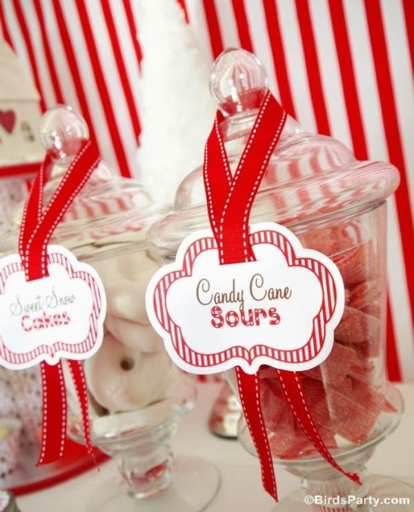 Christmas Candyland Gingrebread Cookies Party candy - BirdsParty.com