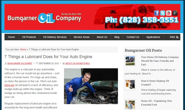 7 Things a Lubricant Does for Your Auto Engine; blog post for Bumgarner Oil (USA) Need similar (or other copywriting/web content) work done? Contact me - darrell@wordtiffie.co.za #wordtiffie