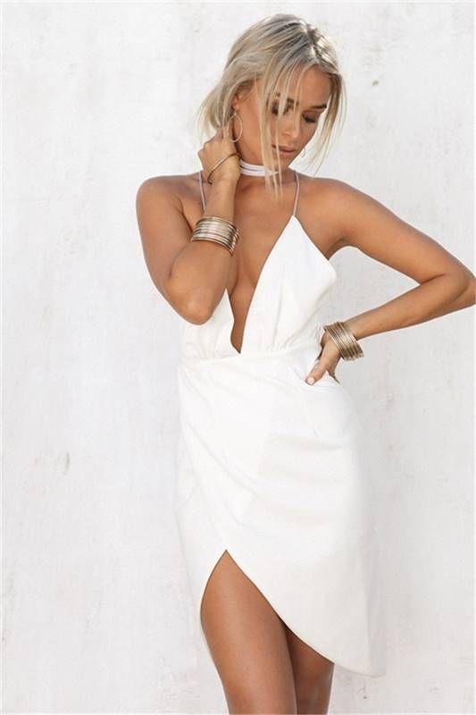Vestido Decote V Assimétrico - Compre Online | DMS Boutique