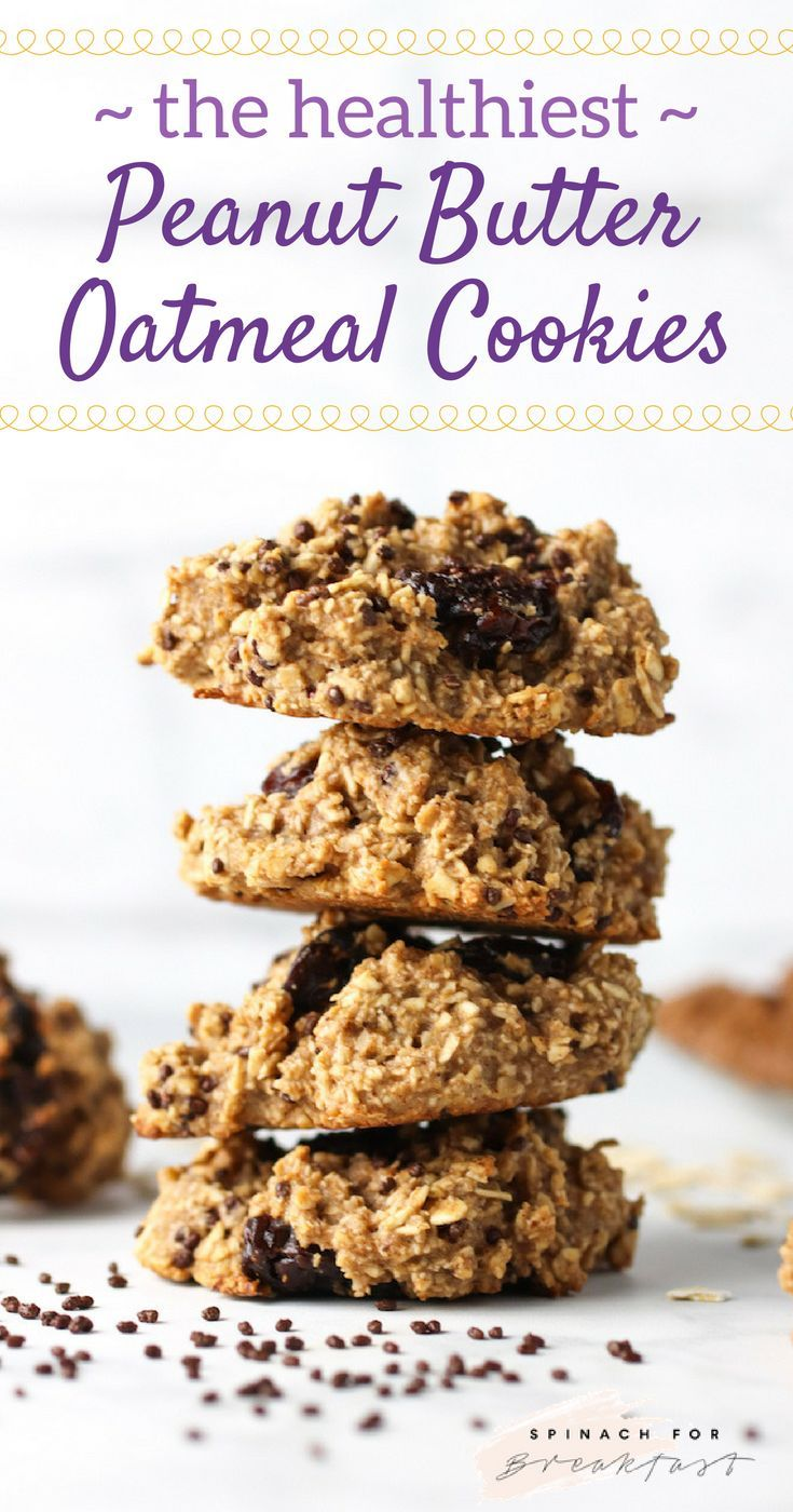 Healthy Peanut Butter Oatmeal Cookies -- this oatmeal cookie recipe is seriously the healthiest and easiest cookie recipe out there! Gluten free, vegan, flour free, dairy free, and added sugar free. These cookies are so simple, healthy, and delicious! Enjoy! :)