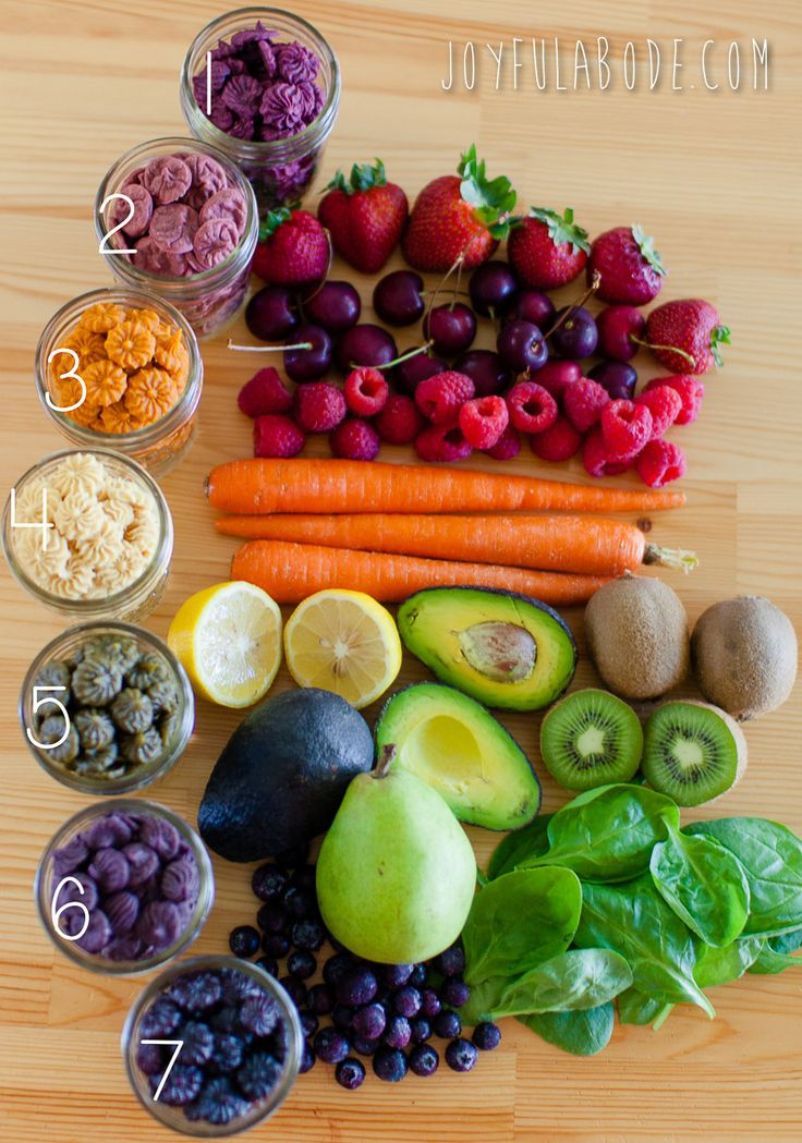 """I made these slightly-chewy rainbowy snack """"drops"""" for my kiddos using nothing but fruits, veggies, coconut butter, my trusty vitamix 750 (have I mentioned it yet? No? I LOVE it.), and my fantabulous Excalibur dehydrator. Got veggies? Got a blender? Got a dehydrator (or possibly an oven on low temp, but I haven't tried that)?... read the rest..."""