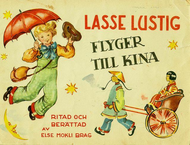 Lasse Lustig flyger till Kina av Else Mokli Brag