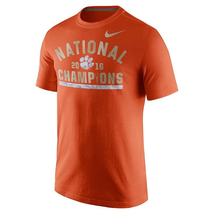 Men's Nike Clemson Tigers 2016 College Football Playoff National Champions Celebration Tee, Orange