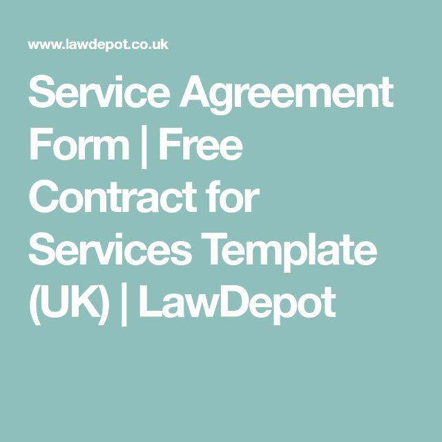 Service Agreement Form | Free Contract for Services Template (UK) | LawDepot