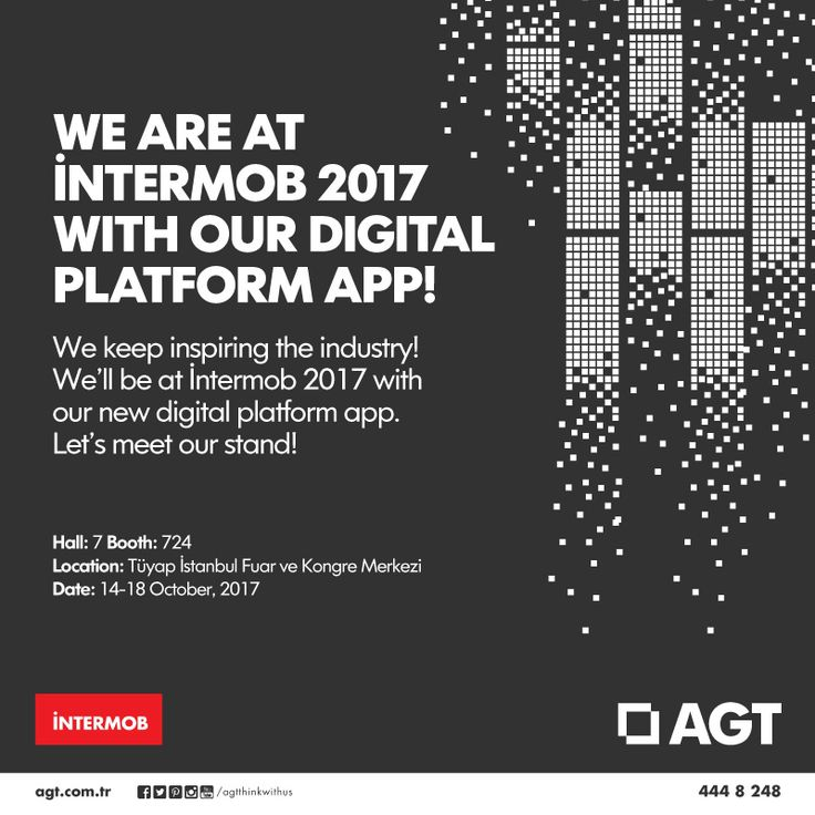 We keep inspiring the industry! We'll be at İntermob 2017 with our new digital platform app and latest products. Let's meet our stand! #agt #innovationchasers #intermob2017