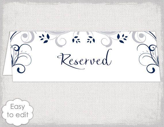 wedding reserved sign card template scroll printable. Black Bedroom Furniture Sets. Home Design Ideas