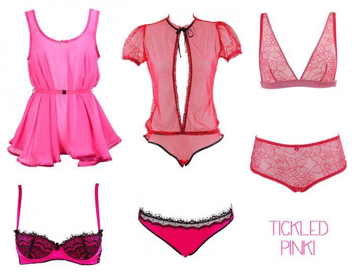 Pink fuchsia summer lingerie