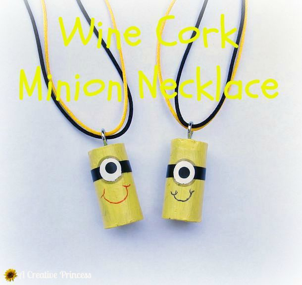 A Creative Princess: Wine Cork Minion Necklace