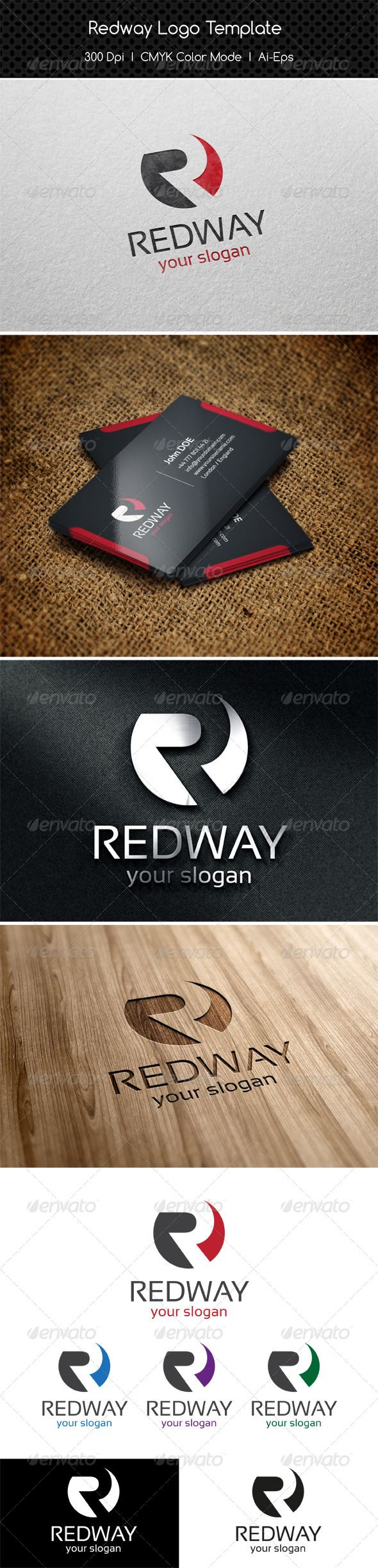 Redway Logo — Vector EPS #auto #alphabet • Available here → https://graphicriver.net/item/redway-logo/8234154?ref=pxcr