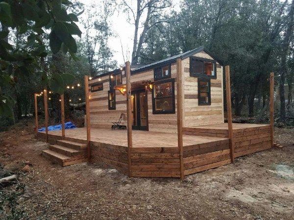 Beautiful 28ft Cedar Tiny House with Custom Deck by KJE Tiny Homes 001