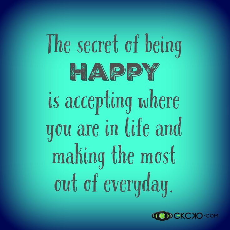 Inspirational Quotes About Happiness: The Secret Of Being Happy! #Inspiration