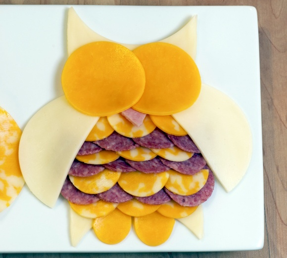 Owl Meat  Cheese Tray animal-shaped-foods