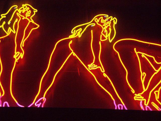 Naked Lady Neon by PinkMoose, via Flickr