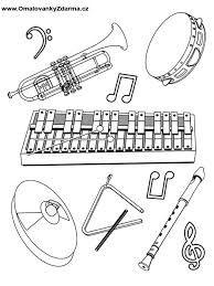 omalovánka hudební nástroje - Hledat Googlem