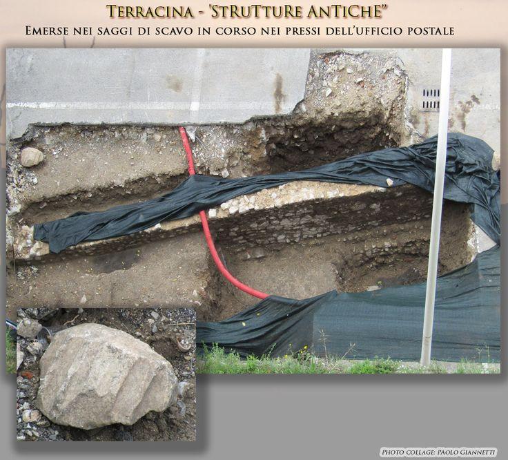 Ancient remains found in May 2016 near the Via Appia of Traiano during excavations.  Strutture antiche emerse nel corso di un saggio di scavo nei pressi della via Appia Traianea