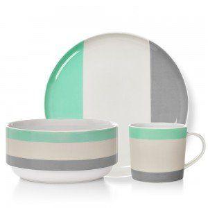 Mint Double Dip Mug, Side Plate & Bowl Set