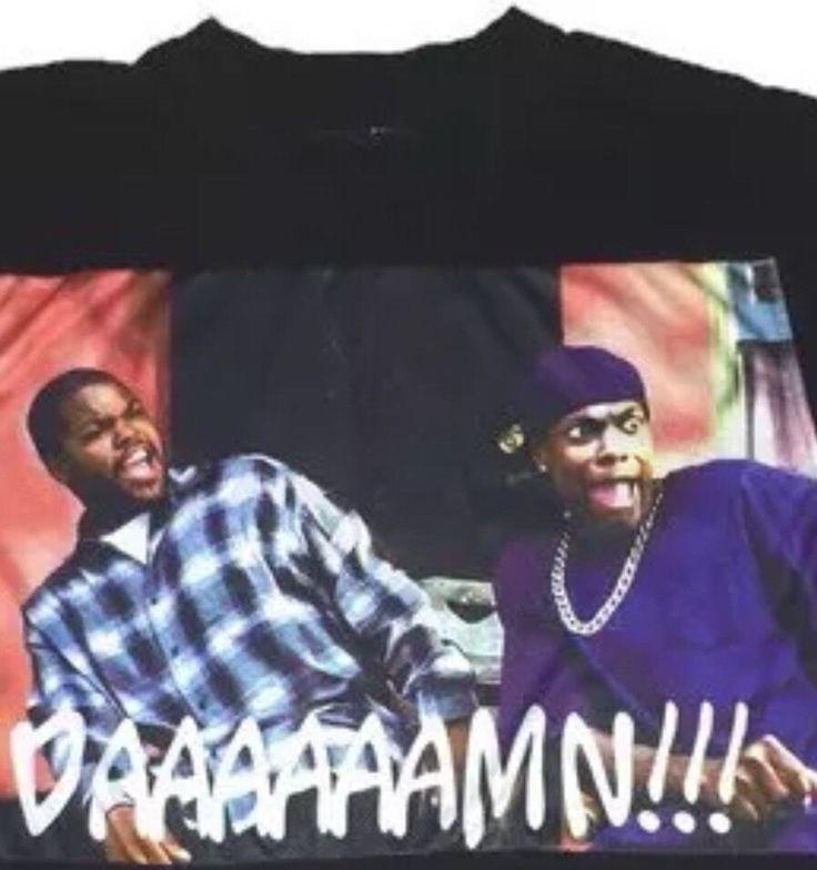 Friday Ice Cube Chris Tucker Damn Tshirt Sz Medium | eBay