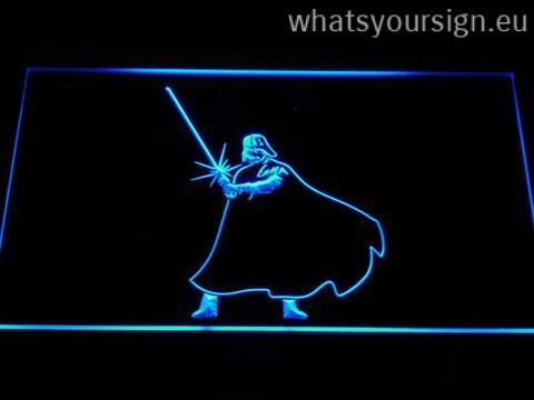 Star Wars Darth Vader Light Saber - Neon sign LED display made of the best-quality clear acrylic and bright colorful LED illumination. The neon sign looks exactly the same from every angle thanks to the carving with the modern 3D laser engraving process. This LED neon sign is a great gift idea! The neon is provided with a metal chain for displaying. Available in 3 sizes in following colours: Purple, Blue, Red, Green, Orange, White and Yellow!