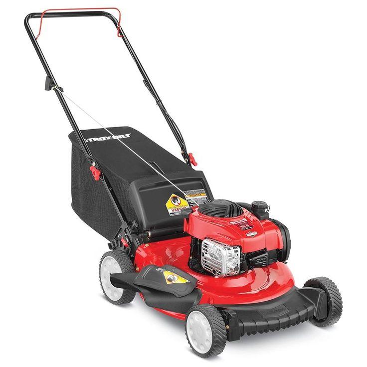 Troy-Bilt TB110 140cc 21-in Push Residential Gas Lawn Mower with Mulching Capability