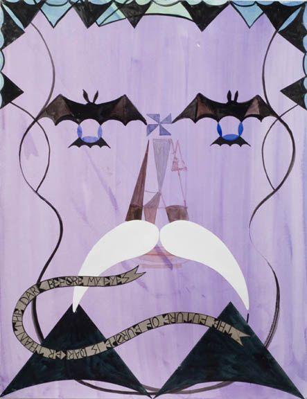 Julian Hooper - Count Gideon Vecsey Watercolour and collage 650 x 500