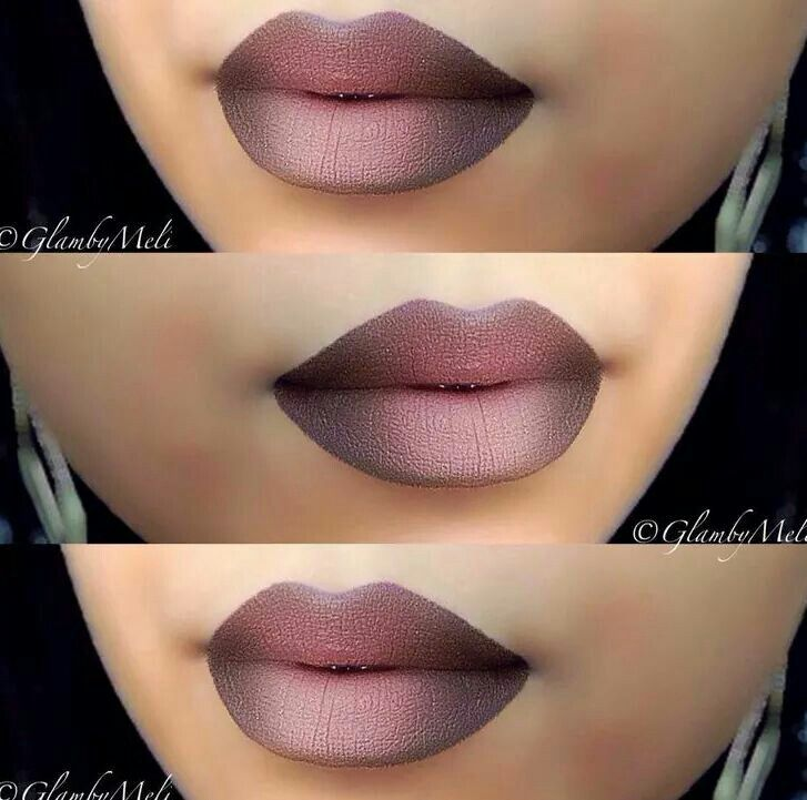 Love her ombre lips. ..