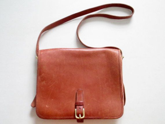 Vintage Coach Leather Bag Messenger Bag Coach by ChinaCatVintage