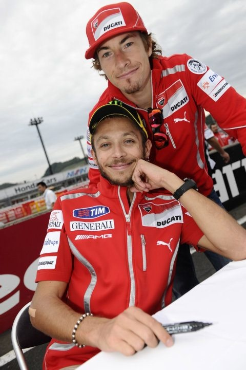 With Nicky Hayden