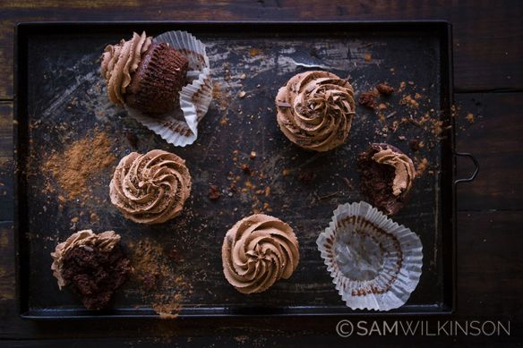Food Photography Chocolate Cupcakes