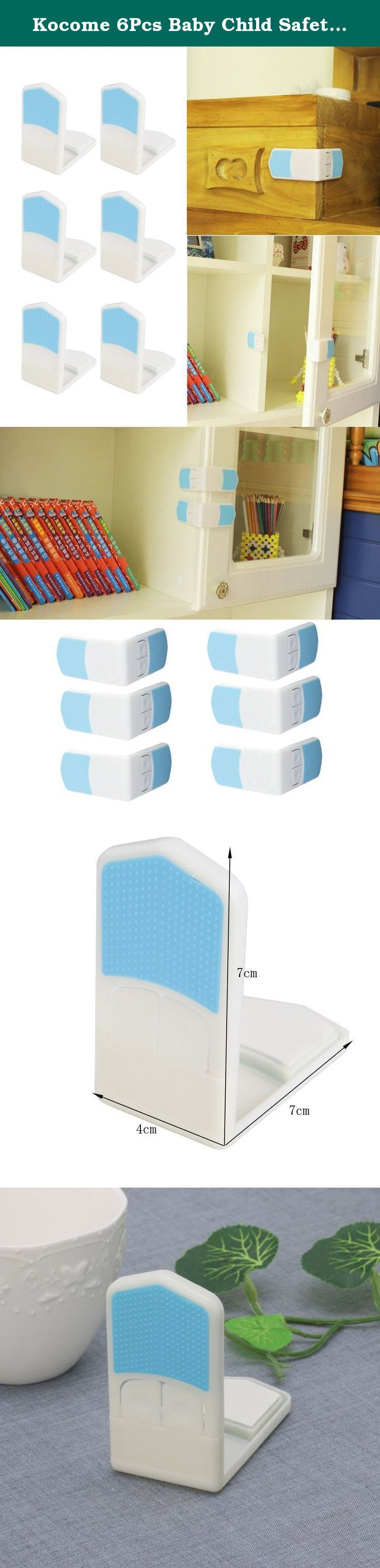 Kocome 6Pcs Baby Child Safety Locking Plastic Cabinet Drawer Bathroom Door Protection. 100% brand new and high quality Features: You can prevent the baby free to open the door, grind your fingers, damage to the cabinet items or items falling hurt baby Can be used for refrigerators, washing machines / dry cleaning machines, chest of drawers, dishwashers and other supplies equipment to prevent the baby opened, eating or messing up the items inside to avoid accidents Specifications:...
