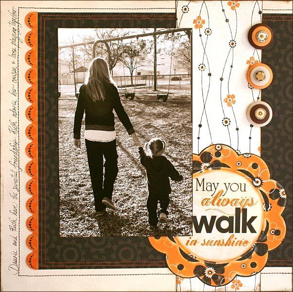 Layout: May You Always Walk in Sunshine. By BoBunny Team @ all-time favorites gallery @ scrapbook.com
