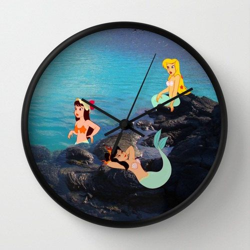 "10"" Disney's Peter Pan Mermaids Wall Clock"