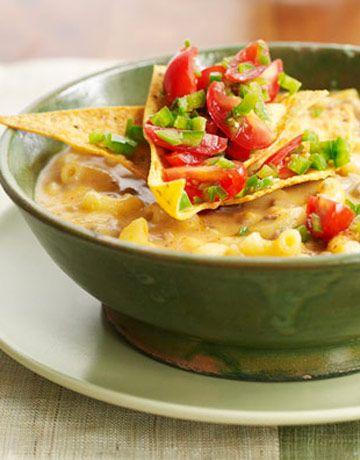 Chili Mac 'n' Cheddar Soup: Cheddar Soups, Chili Mac, Chilis Recipes, Chilis Mac, Food, Cheese Soups, Soups Recipes, Ground Beef Chili, Soup Recipes