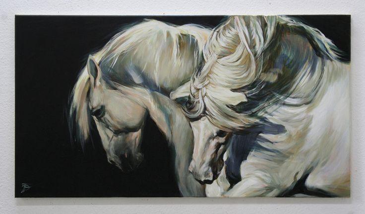 WHITE HORSE, SILKEN MANES  WEISSE PFERDE, SEIDENE MÄHNEN  BY JANA FOX & OLEG DY…
