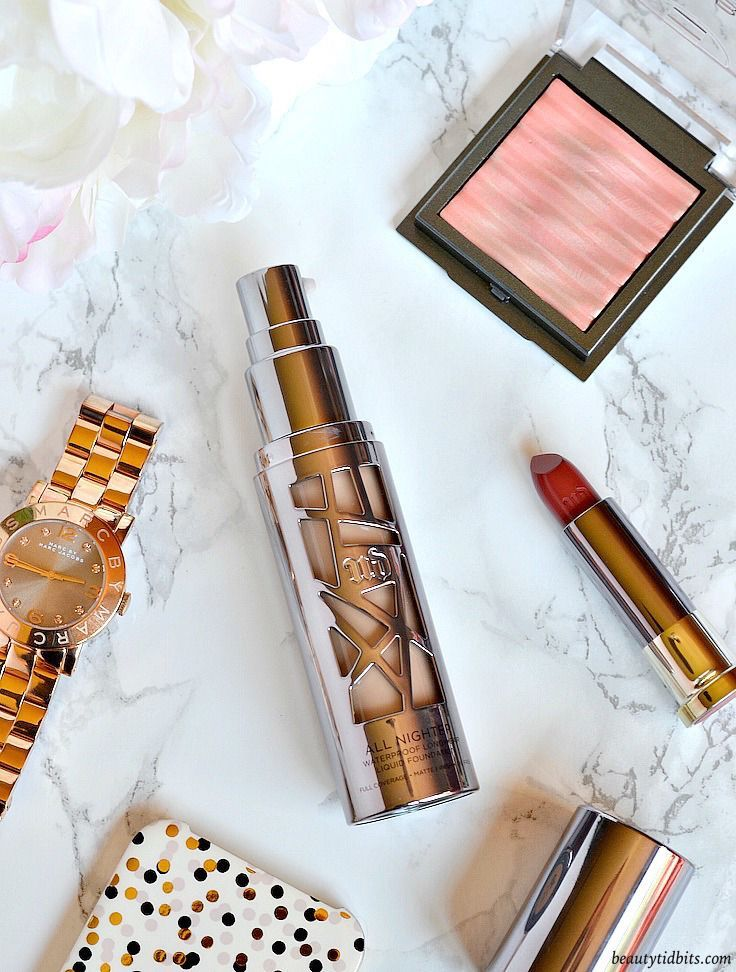 Urban Decay All Nighter Foundation Review and Swatches