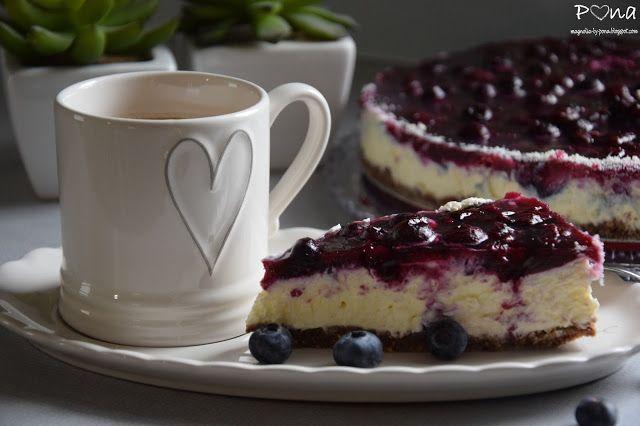 vůně kávy a pastelek: Cheesecake s borůvkami a citronem