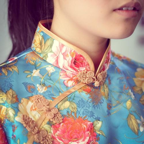 turquoise cheongsam / qi pao