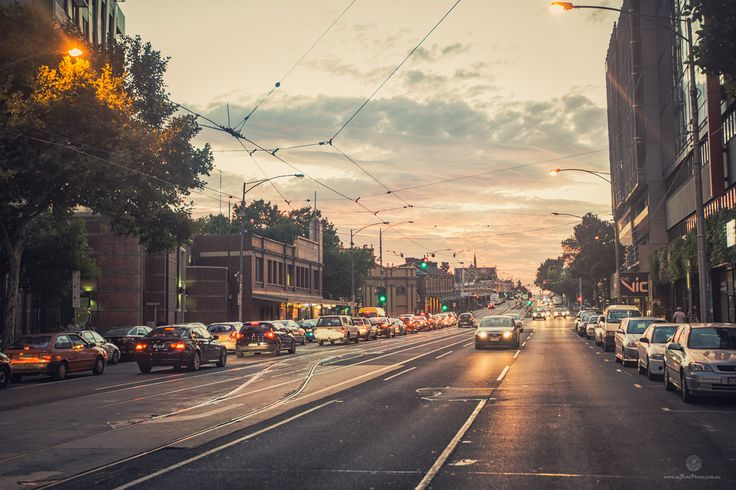 Portrait of Melbourne - Sunset on a summer day