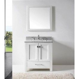 Eviva EVVN199-30 Aberdeen 30 Inch Transitional Bathroom Vanity with White Carrera Top