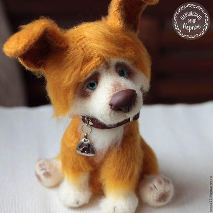 Игрушки животные, ручной работы. Ярмарка Мастеров - ручная работа. Купить щенок корги Коржик. Handmade. Оранжевый, щенок