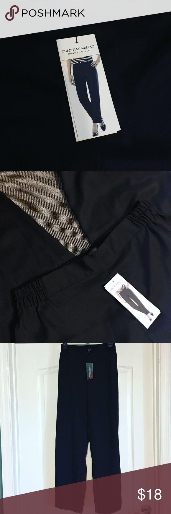 Christian Siriano Pants New black pants by Christian Siriano. Cozy and comfortable material and waist band. Christian Siriano Pants