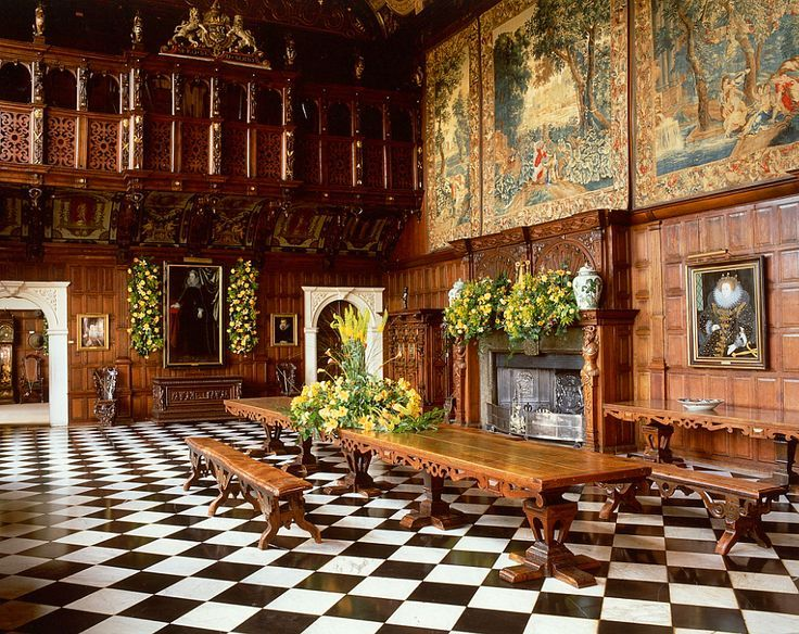 Marble Hall At Hatfield House Jacobean Interior