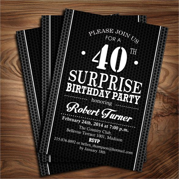 the 25+ best 40th birthday invitations ideas on pinterest | 40, Birthday invitations