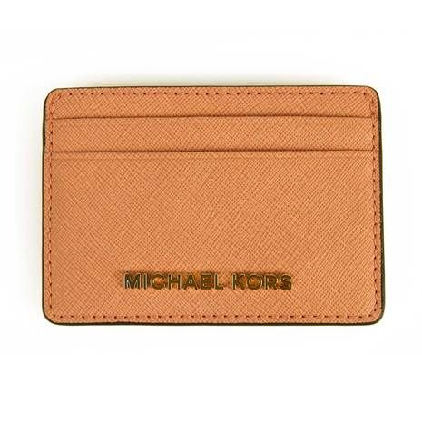 Michael Kors Pink grained leather Card Holder Wallet