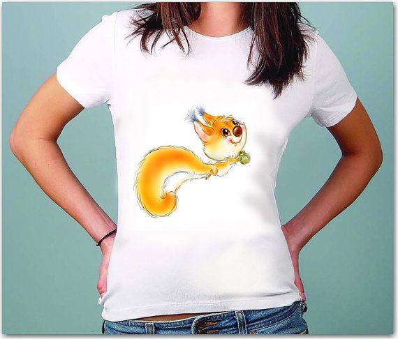 Squirrel Art - Drawing  t-shirt for women by TShirtpanic