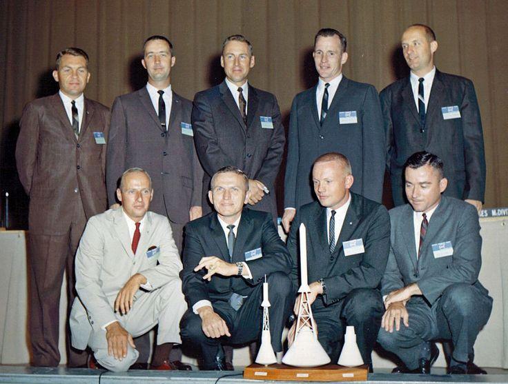 The Second nine astronauts. Back Row: Elliot See, James ...