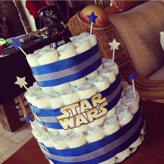 Star Wars Darth Vader Baby Shower Diaper Cake