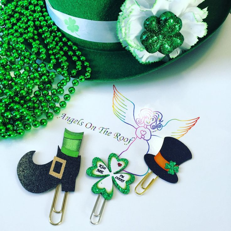 St. Patrick's day paper clips