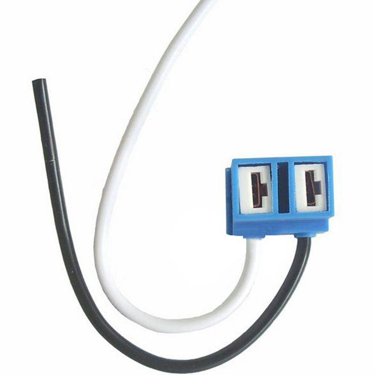 2 Pcs H7 Headlight Bulb Socket Outlet Ceramic Lamp Base Car Connector Plug
