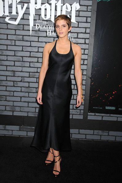 """Emma Watson Little Black Dress"" -   Emma wore a simple chic silk black dress for the Harry Potter premiere."